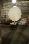 Оболочка зонда, наполненная водородом.